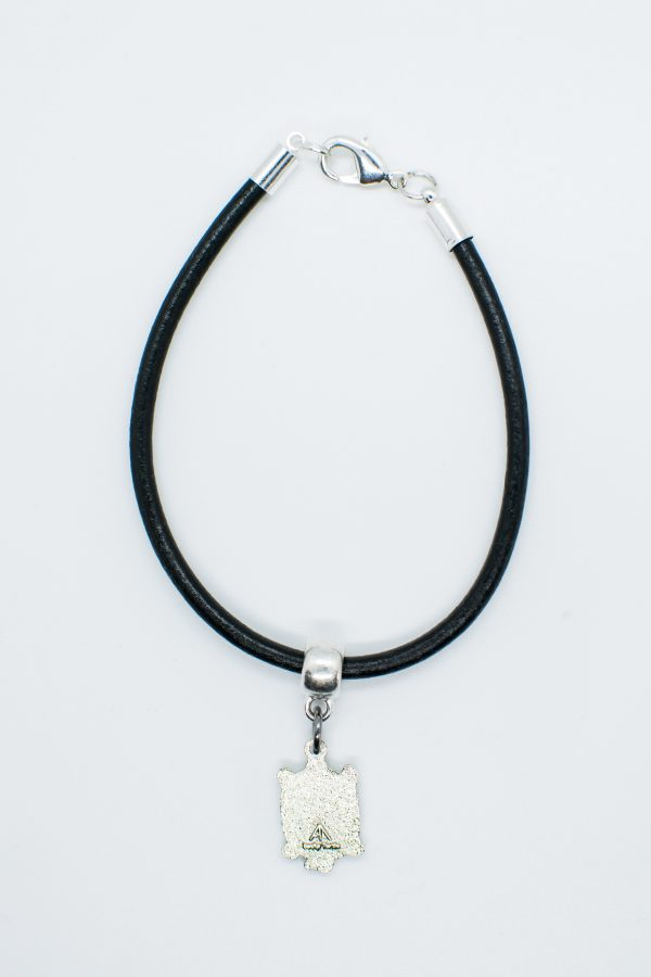 Lucky Charm Hanging on a Black Bracelet Cord