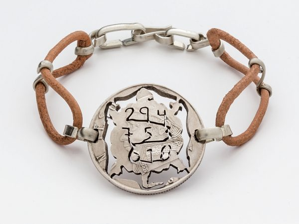Mexican Antic Coin Bracelet